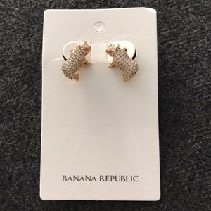 New rhino earrings from banana republic